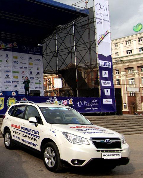SUBARU на фестивале ВЕЛОДОНБАСС. Как ехала популярная автомодель в пелетоне «Гран-при Донецка»