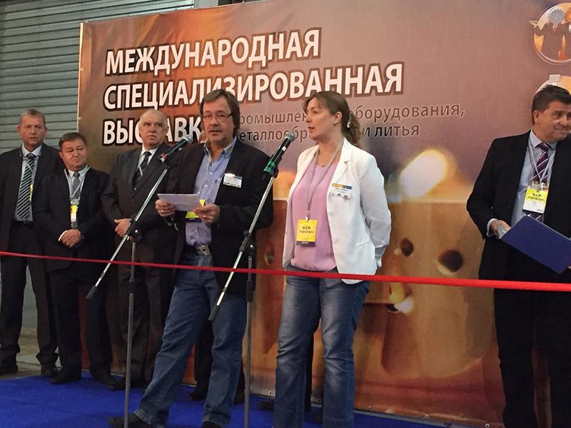 Речь на открытии выставки представителя Евротек технического директора Кнуда Нильсена