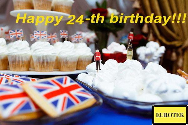 Поздравляем наших партнеров, компанию Eurotek Foundry Products Ltd с днем рождения!!!