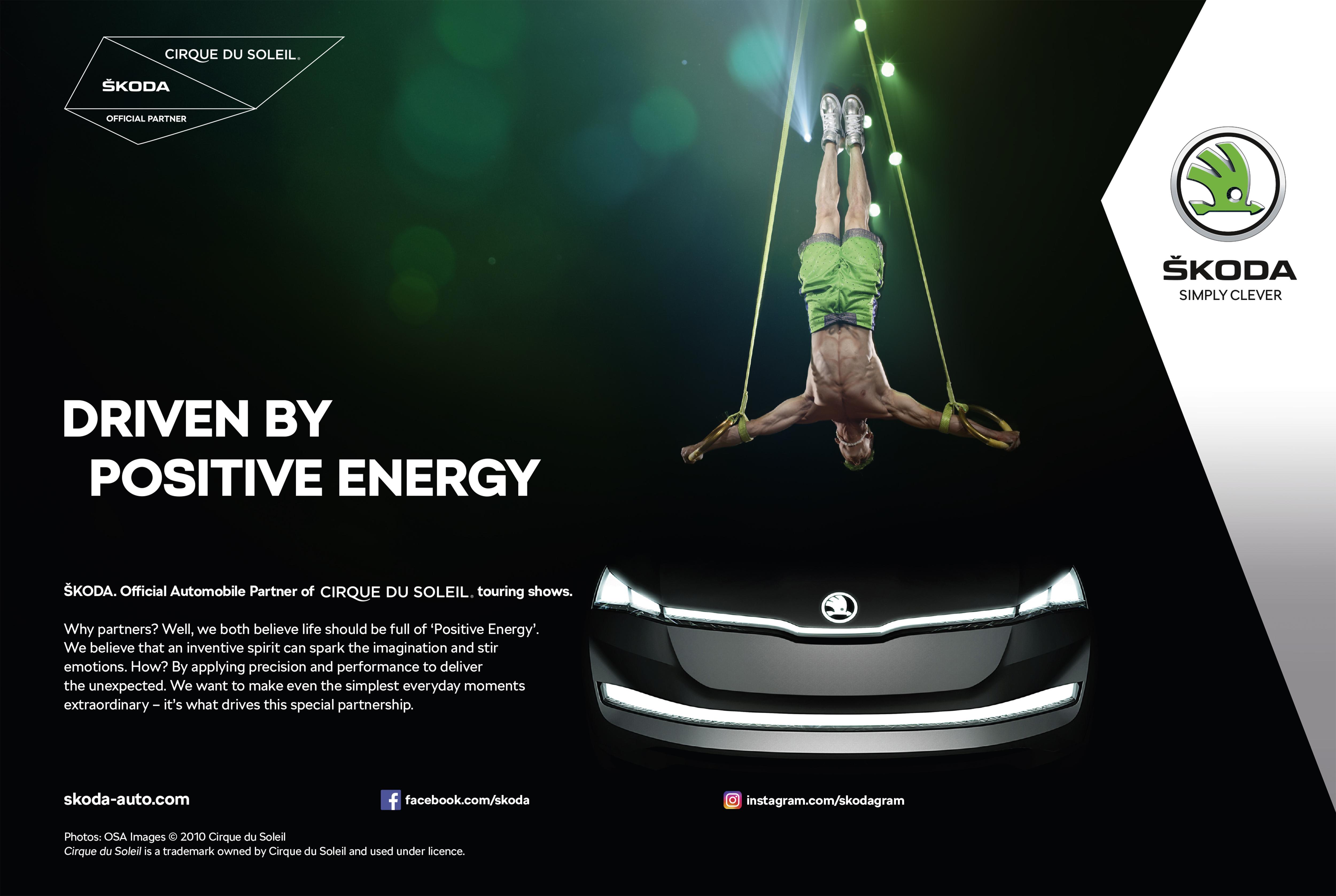 Официально: ŠKODA и Cirque du Soleil® заключили долгосрочное соглашение о партнерстве